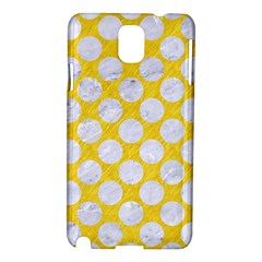 Circles2 White Marble & Yellow Colored Pencil Samsung Galaxy Note 3 N9005 Hardshell Case by trendistuff