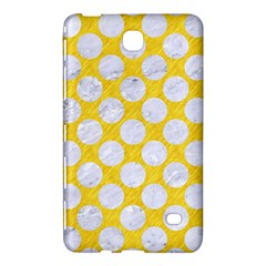 Circles2 White Marble & Yellow Colored Pencil Samsung Galaxy Tab 4 (7 ) Hardshell Case  by trendistuff