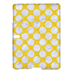 Circles2 White Marble & Yellow Colored Pencil Samsung Galaxy Tab S (10 5 ) Hardshell Case  by trendistuff