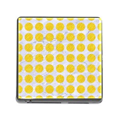 Circles1 White Marble & Yellow Colored Pencil (r) Memory Card Reader (square) by trendistuff