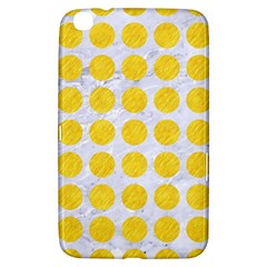 Circles1 White Marble & Yellow Colored Pencil (r) Samsung Galaxy Tab 3 (8 ) T3100 Hardshell Case  by trendistuff