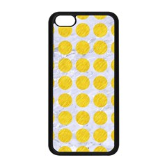 Circles1 White Marble & Yellow Colored Pencil (r) Apple Iphone 5c Seamless Case (black) by trendistuff