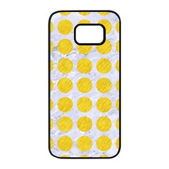Circles1 White Marble & Yellow Colored Pencil (r) Samsung Galaxy S7 Edge Black Seamless Case by trendistuff