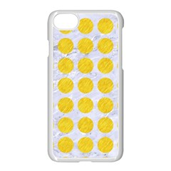 Circles1 White Marble & Yellow Colored Pencil (r) Apple Iphone 8 Seamless Case (white) by trendistuff