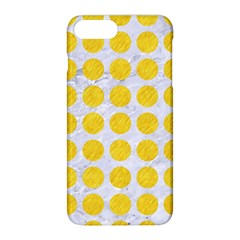 Circles1 White Marble & Yellow Colored Pencil (r) Apple Iphone 8 Plus Hardshell Case by trendistuff