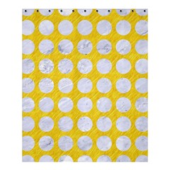 Circles1 White Marble & Yellow Colored Pencil Shower Curtain 60  X 72  (medium)  by trendistuff