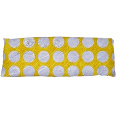 Circles1 White Marble & Yellow Colored Pencil Body Pillow Case Dakimakura (two Sides) by trendistuff