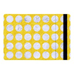 Circles1 White Marble & Yellow Colored Pencil Apple Ipad Pro 10 5   Flip Case by trendistuff