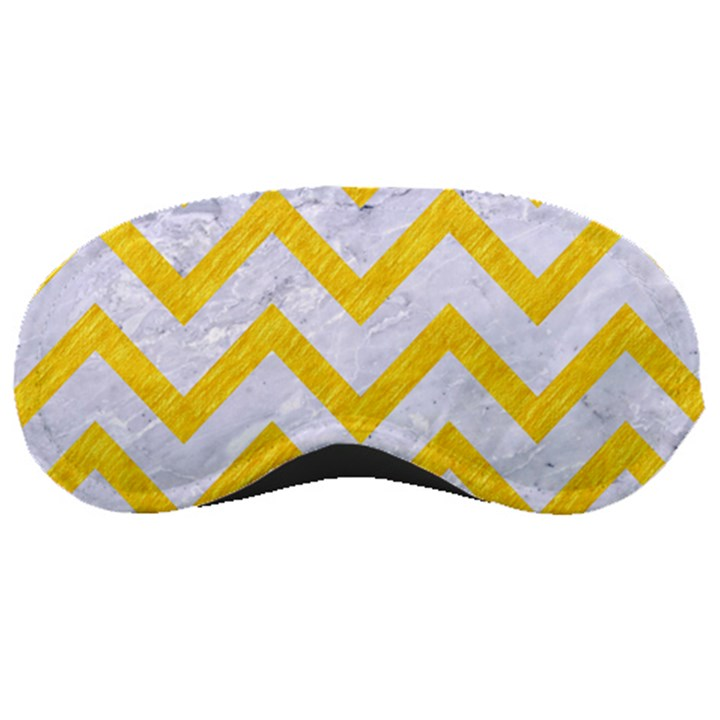 CHEVRON9 WHITE MARBLE & YELLOW COLORED PENCIL (R) Sleeping Masks