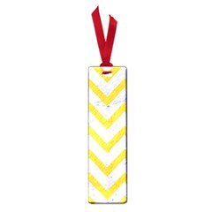 Chevron9 White Marble & Yellow Colored Pencil (r) Small Book Marks by trendistuff