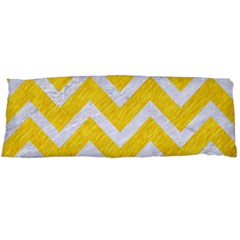 Chevron9 White Marble & Yellow Colored Pencilchevron9 White Marble & Yellow Colored Pencil Body Pillow Case Dakimakura (two Sides) by trendistuff