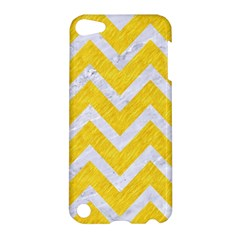 Chevron9 White Marble & Yellow Colored Pencilchevron9 White Marble & Yellow Colored Pencil Apple Ipod Touch 5 Hardshell Case by trendistuff