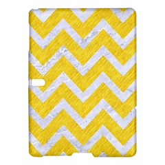 Chevron9 White Marble & Yellow Colored Pencilchevron9 White Marble & Yellow Colored Pencil Samsung Galaxy Tab S (10 5 ) Hardshell Case  by trendistuff