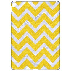 Chevron9 White Marble & Yellow Colored Pencilchevron9 White Marble & Yellow Colored Pencil Apple Ipad Pro 12 9   Hardshell Case by trendistuff