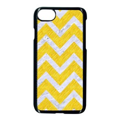 Chevron9 White Marble & Yellow Colored Pencilchevron9 White Marble & Yellow Colored Pencil Apple Iphone 8 Seamless Case (black) by trendistuff