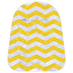 Chevron3 White Marble & Yellow Colored Pencil School Bag (small) by trendistuff