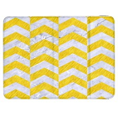 Chevron2 White Marble & Yellow Colored Pencil Samsung Galaxy Tab 7  P1000 Flip Case by trendistuff