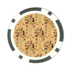 Vintage Floral Pattern Poker Chip Card Guard (10 Pack) by paulaoliveiradesign
