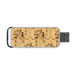 Vintage Floral Pattern Portable Usb Flash (two Sides) by paulaoliveiradesign