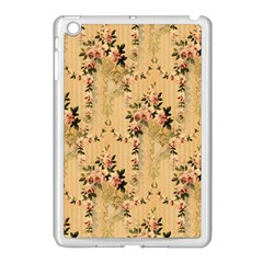 Vintage Floral Pattern Apple Ipad Mini Case (white) by paulaoliveiradesign