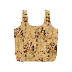 Vintage Floral Pattern Full Print Recycle Bags (s)