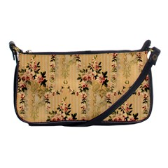 Vintage Floral Pattern Shoulder Clutch Bags by paulaoliveiradesign