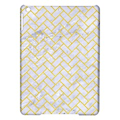 Brick2 White Marble & Yellow Colored Pencil (r) Ipad Air Hardshell Cases by trendistuff