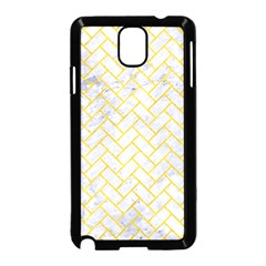 Brick2 White Marble & Yellow Colored Pencil (r) Samsung Galaxy Note 3 Neo Hardshell Case (black) by trendistuff