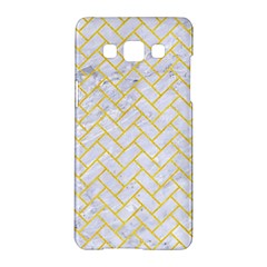 Brick2 White Marble & Yellow Colored Pencil (r) Samsung Galaxy A5 Hardshell Case  by trendistuff