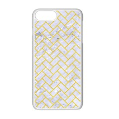 Brick2 White Marble & Yellow Colored Pencil (r) Apple Iphone 7 Plus Seamless Case (white) by trendistuff