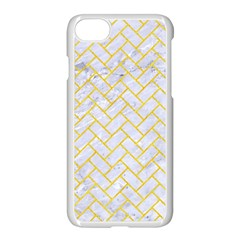 Brick2 White Marble & Yellow Colored Pencil (r) Apple Iphone 7 Seamless Case (white) by trendistuff