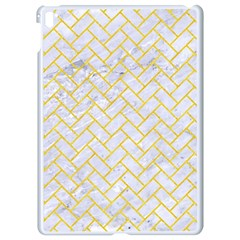 Brick2 White Marble & Yellow Colored Pencil (r) Apple Ipad Pro 9 7   White Seamless Case by trendistuff