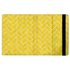 Brick2 White Marble & Yellow Colored Pencil Apple Ipad 3/4 Flip Case by trendistuff