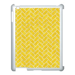 Brick2 White Marble & Yellow Colored Pencil Apple Ipad 3/4 Case (white) by trendistuff