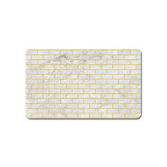 Brick1 White Marble & Yellow Colored Pencil (r) Magnet (name Card) by trendistuff