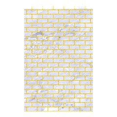 Brick1 White Marble & Yellow Colored Pencil (r) Shower Curtain 48  X 72  (small)  by trendistuff