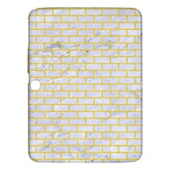 Brick1 White Marble & Yellow Colored Pencil (r) Samsung Galaxy Tab 3 (10 1 ) P5200 Hardshell Case  by trendistuff