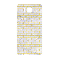 Brick1 White Marble & Yellow Colored Pencil (r) Samsung Galaxy Alpha Hardshell Back Case by trendistuff