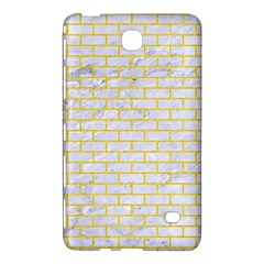 Brick1 White Marble & Yellow Colored Pencil (r) Samsung Galaxy Tab 4 (7 ) Hardshell Case  by trendistuff