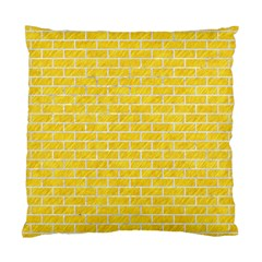Brick1 White Marble & Yellow Colored Pencil Standard Cushion Case (one Side) by trendistuff