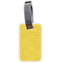 Brick1 White Marble & Yellow Colored Pencil Luggage Tags (one Side)  by trendistuff