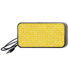 Brick1 White Marble & Yellow Colored Pencil Portable Speaker by trendistuff