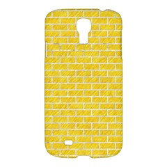 Brick1 White Marble & Yellow Colored Pencil Samsung Galaxy S4 I9500/i9505 Hardshell Case