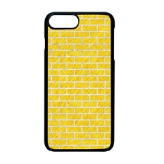 Brick1 White Marble & Yellow Colored Pencil Apple Iphone 7 Plus Seamless Case (black)
