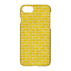 Brick1 White Marble & Yellow Colored Pencil Apple Iphone 8 Hardshell Case by trendistuff