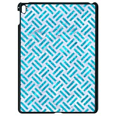 Woven2 White Marble & Turquoise Marble (r) Apple Ipad Pro 9 7   Black Seamless Case by trendistuff