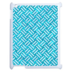 Woven2 White Marble & Turquoise Marble Apple Ipad 2 Case (white) by trendistuff