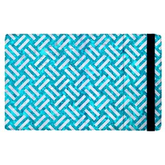 Woven2 White Marble & Turquoise Marble Apple Ipad Pro 9 7   Flip Case by trendistuff