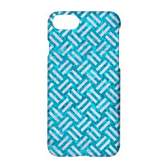 Woven2 White Marble & Turquoise Marble Apple Iphone 7 Hardshell Case by trendistuff
