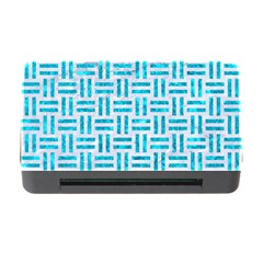 Woven1 White Marble & Turquoise Marble (r) Memory Card Reader With Cf by trendistuff